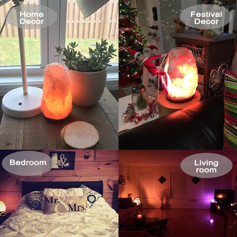 EU/US Plug Air Purifier Night Salt Light Natural Shape Salt Lamp Relieving Stress Himalayan Crysta Salt Rock Lamp for Homes enlarge