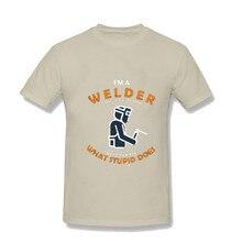Mens Football Shirt Off White Gym Couture Hip Hop Print Tee Shirt I AM WELDER T-shirt Mandalorian