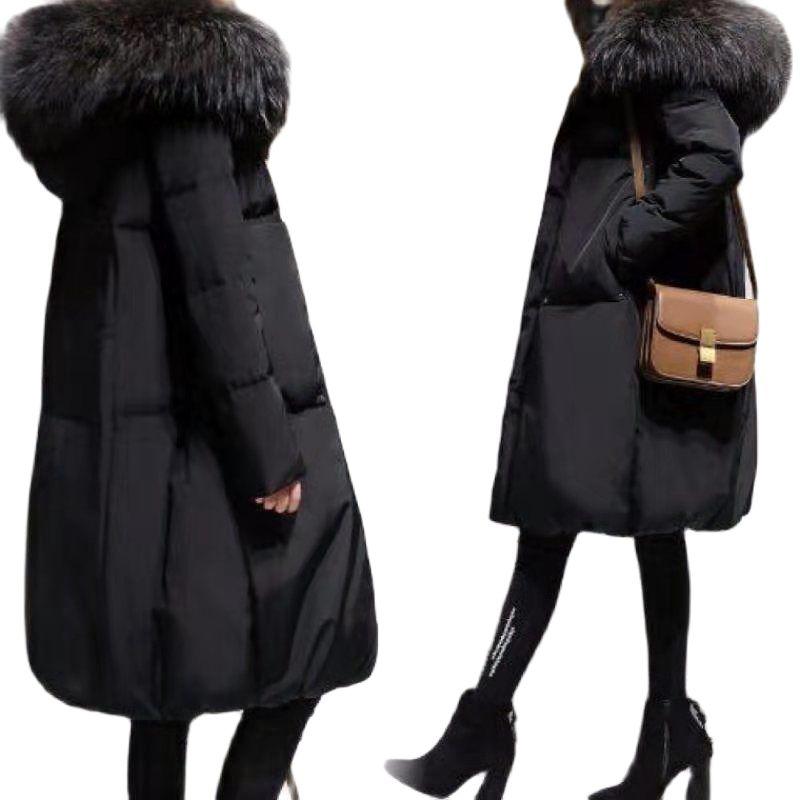 كبيرة الحجم المرأة معطف الشتاء القطن وسادة مبطنة الإناث منتصف طول 2021New معطف الكورية نمط فضفاض أبلى Chaqueta Mujer