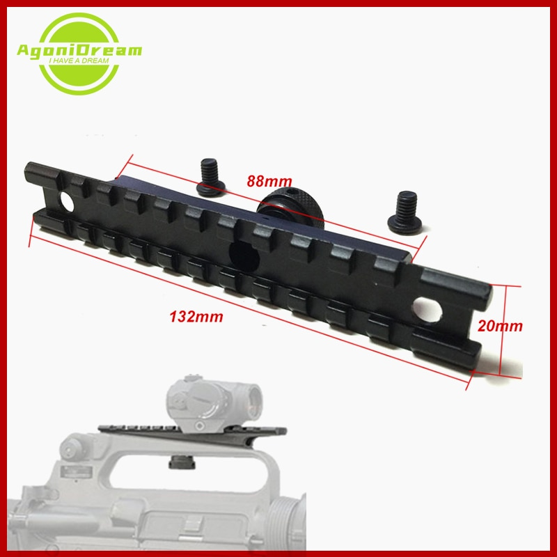 Torarit  Gun Rail 20mm Scope mount Weaver Rail AR15&M16 Hunting Tactical Quick Release Rifle for Carry Handles Airsoft Shooting