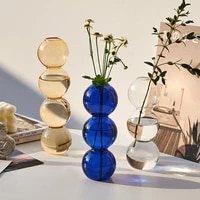 nordic home decoration glass vase ball flower vase home decoration terrarium table decoration living room terrarium decor gifts