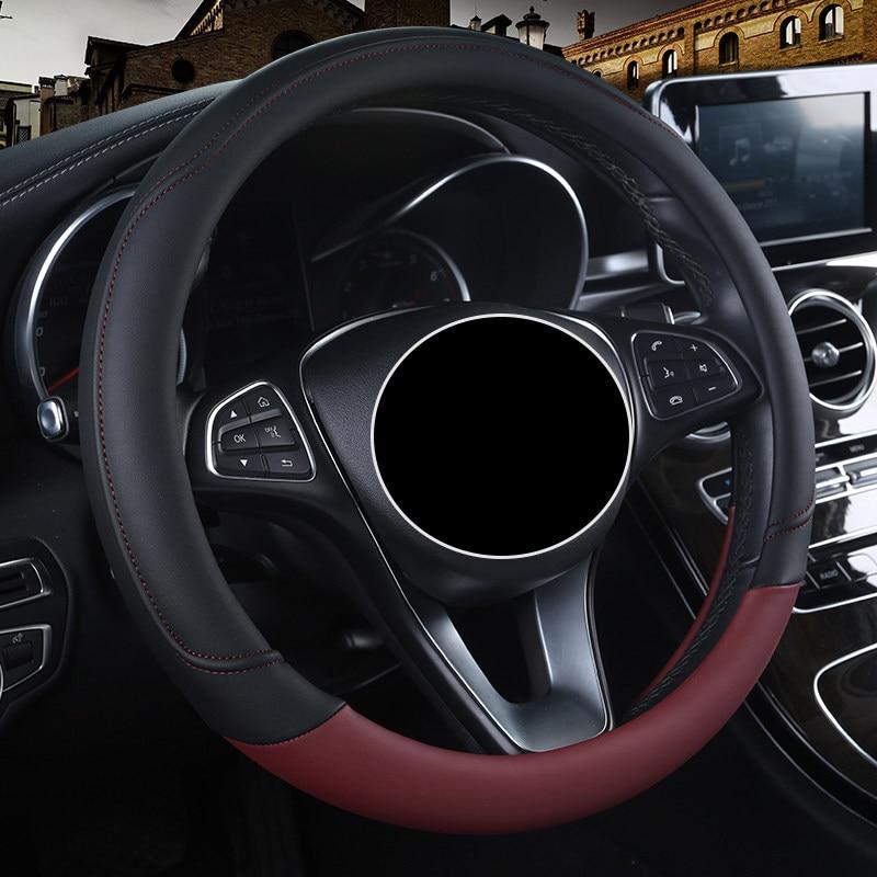 Couro Carro Steeting Roda covers Para todos os modelos GranTurismo Maserati Ghibli quattroporte Levante car styling acessórios auto