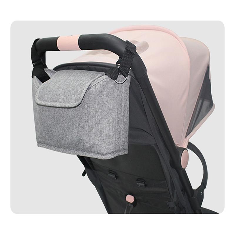 Baby Stroller Accessories Solid Color Stroller Bag Pram Stroller Organizer Stroller Holder New