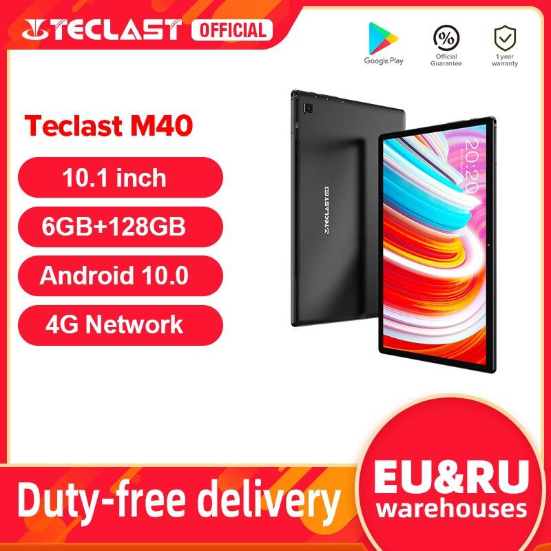 Teclast M40 Android 10 Tablet 1920x1200 10.1 inch 4G Network 6GB RAM 128GB ROM UNISOC T618 Octa Core