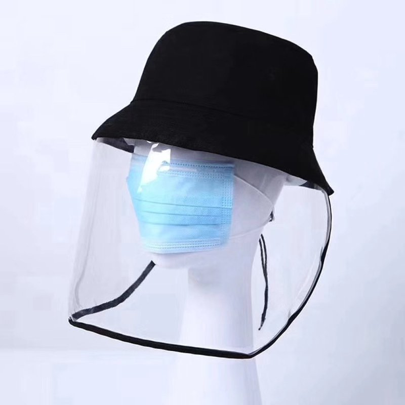 2020 Prevent spittle Berets Hat Anti-dust PVC cover Sun Cap Men Women leisure Bucket Hat fishermen H