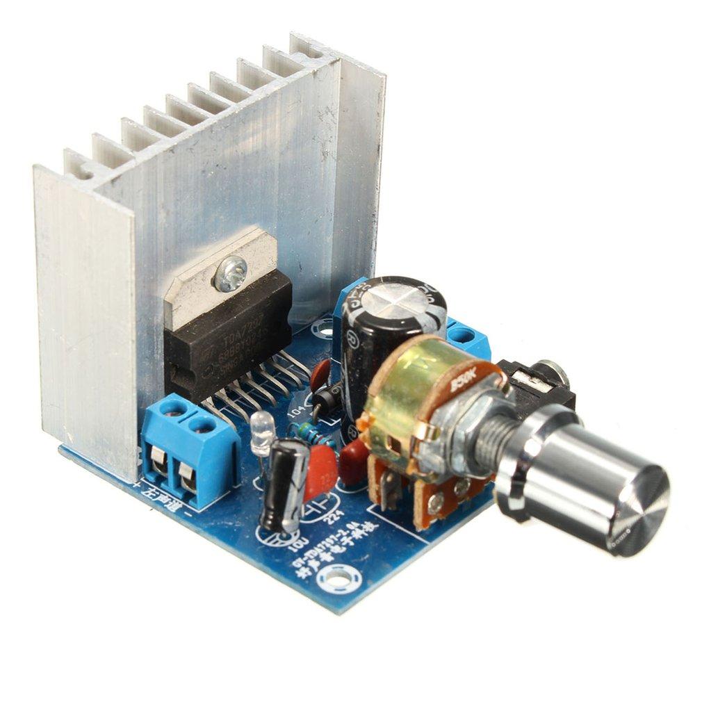 Placa amplificadora TDA7297, Versión B, CC de 9-15V, 15W x 2, módulo...