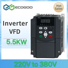 주파수 강력한 인버터 220V ~ 380V 5.5KW 0-400Hz CNC 스핀들 모터 드라이버 컨트롤러 용 VFD 가변 주파수 드라이버
