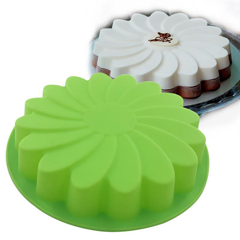 1pc nuevo de silicona sartén para pastel redondo no-Stick para hornear molde...