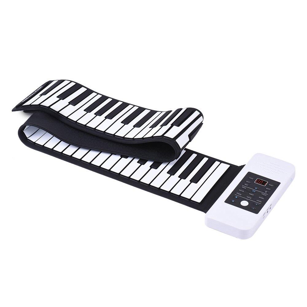 المحمولة سيليكون 88 مفاتيح اليد نشمر البيانو الإلكترونية لوحة مفاتيح بمنفذ USB المدمج في بطارية ليثيوم أيون ومكبر الصوت بصوت عال مع دواسة واحد...