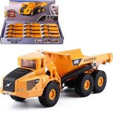 1/87 lkw 13,5 CM Modell druckguss Legierung Metall Auto Traktor Gelenk Dump Lkw Bagger Modell Kinder Spielzeug Geschenk sammlung