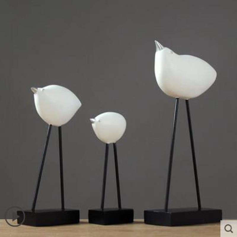 Nordic three resin bird crafts, creative artwork, home office restaurant bar desktop decoration gift