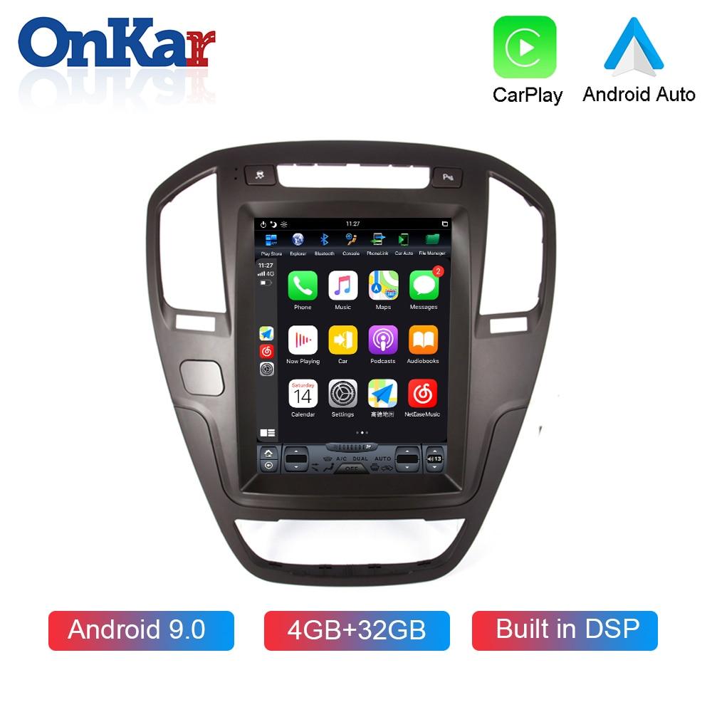 OnKar Reprodutor multimídia Carro Para Buick/ Opel Insignia 2009 2010 2011 2012 2013 10.4 Polegada Vertical Da Tela Android 9.0 Auto Rádio