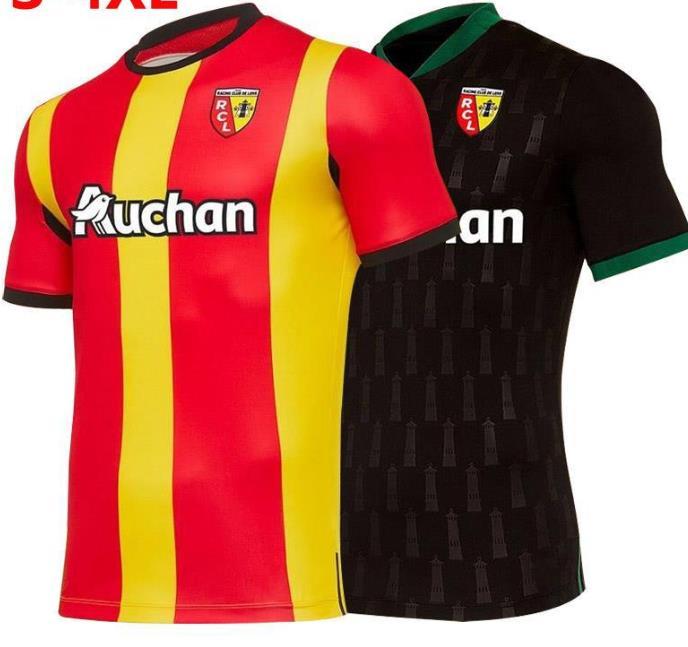20-21 maillot de pie RC Lens jerseyEs Gradit Fortes Cahuzac Pérez 2020-21 Mauricio Camisa de futebol de Kakuta fútbol Shir