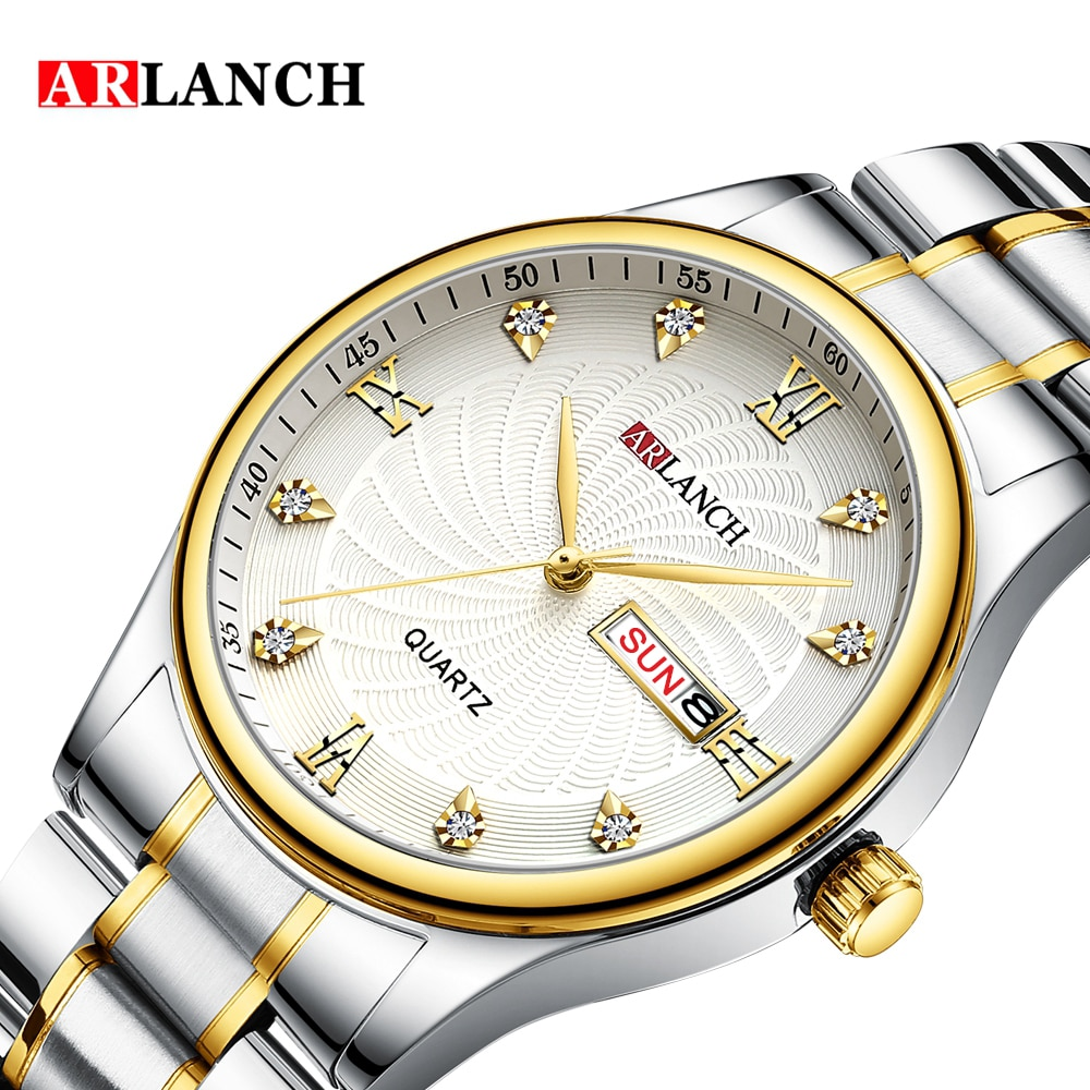 ARLANCH Brand Luxury Lover Unisex Couples Watches Quartz Calendar Wristwatch Watches for Man and Woman Relogio Masculino