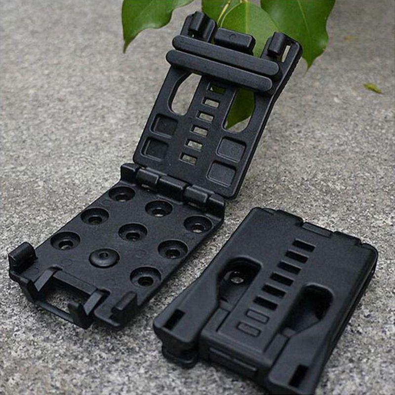 EDC Multi función K vaina correa de vaina Clip cintura abrazadera utilidad portátil para acampar al aire libre herramientas negro
