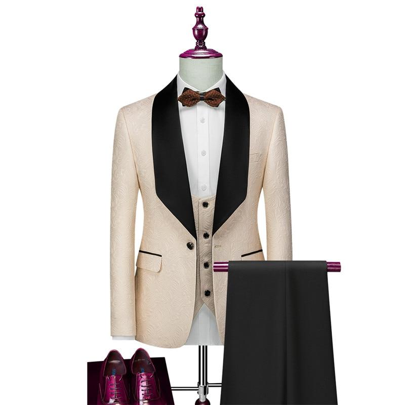 وصل حديثًا موضة 2021 بأزرار واحدة لرفقاء العريس ، بدلة رسمية للرجال لحفلات الزفاف/الحفلات الراقصة ، أفضل سترة (سترة + بنطلون + سترة)