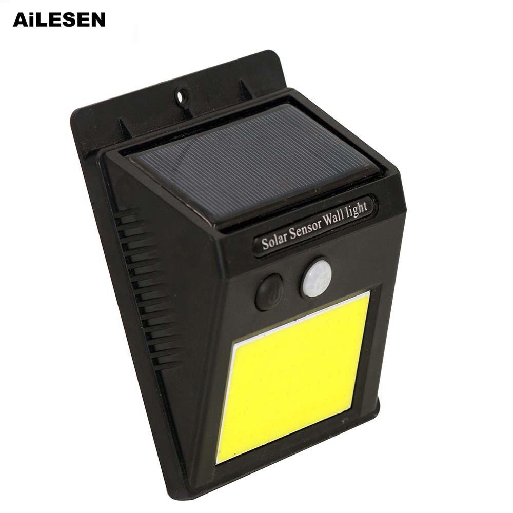 AiLESEN 48COB LED lámpara Solar Sensor de movimiento al aire libre impermeable IP65 luces jardín lámpara de pared luz de camino de calle