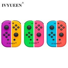 IVYUEEN 1 par para interruptor de Nitendo NS JoyCon Joy Con carcasa de controlador para NintendoSwitch cubierta verde púrpura rosa
