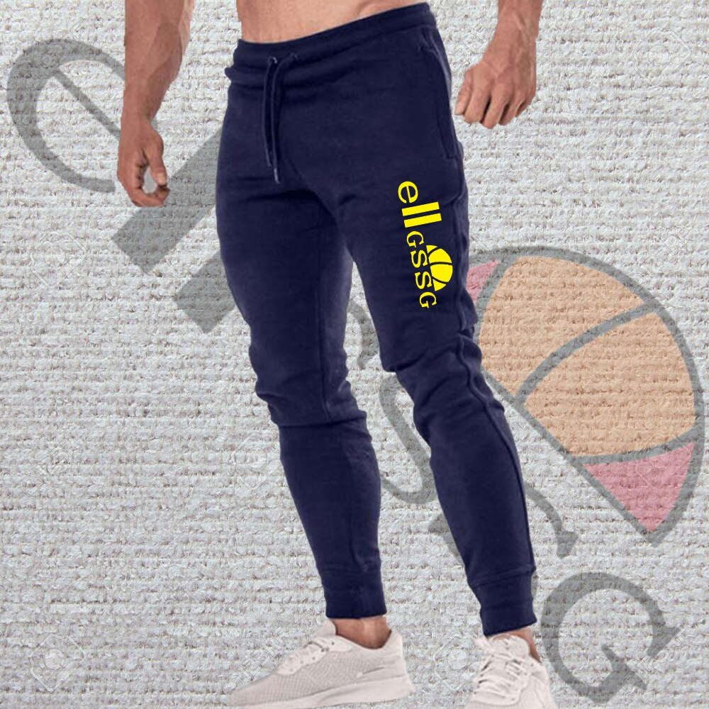 Men's jogging casual pants fitness men's sportswear bottoming tight sports pants trousers gym joggin