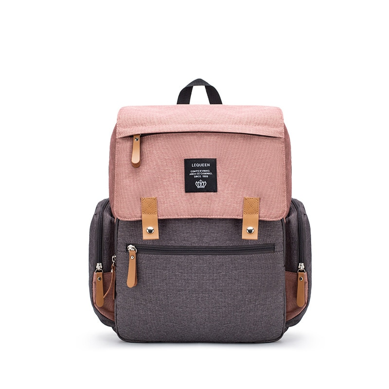 Nappy Backpack Bag Mummy Large Capacity Stitching Color Stroller Bag Mom Baby Waterproof Outdoor Travel Diaper Bags