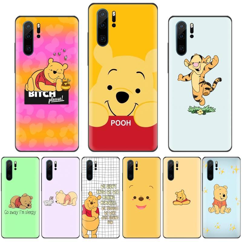 Disney bear cute usa Black TPU Phone Case Cover For Huawei Honor view 7a5.45inch 7c5.7inch 8x 8a 8c 9 9x 10 20 10i 20i lite pro
