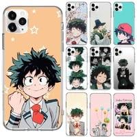 my hero academia deku bakugou boku phone transparent for iphone 6 7 8 11 12 s mini pro x xs xr max plus se cover funda shell