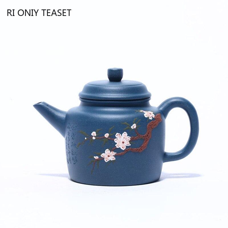 190 مللي Yixing الشهيرة الأرجواني الطين إبريق اليدوية الكرة حفرة الترشيح براد شاي خام خام أزور الطين غلاية الصينية Zisha teبينة
