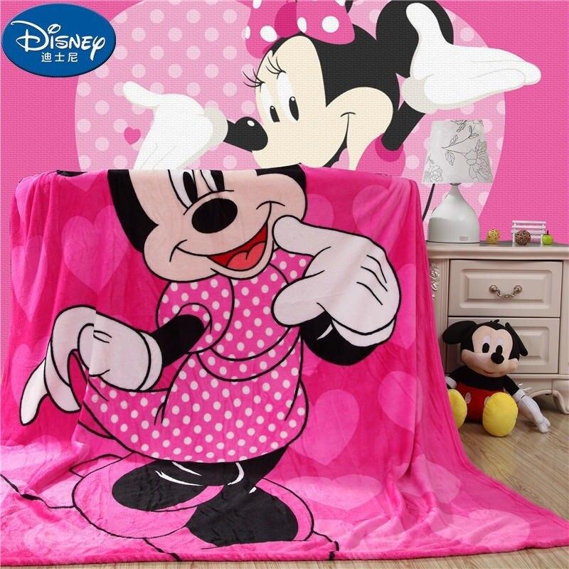 Diseney بطانية ميكي ميني قطار لينة الفانيلا الكرتون للأطفال على أريكة تتحول لسرير الأريكة الأطفال الصوفية بطانية