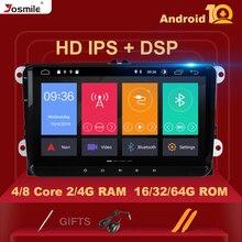 DSP 8 코어 4GB 64G 2 Din 안드로이드 10Car 라디오 GPS 네비게이션 Amarok Volksagen VW Passat B6 Skoda Octavia 2 Superb2 Multimedia