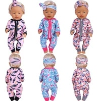 43cm doll clothes 18 inch dolls pajamas suit with headwear reborn baby fashion costume fit bjd 14 doll newborn festival gifts