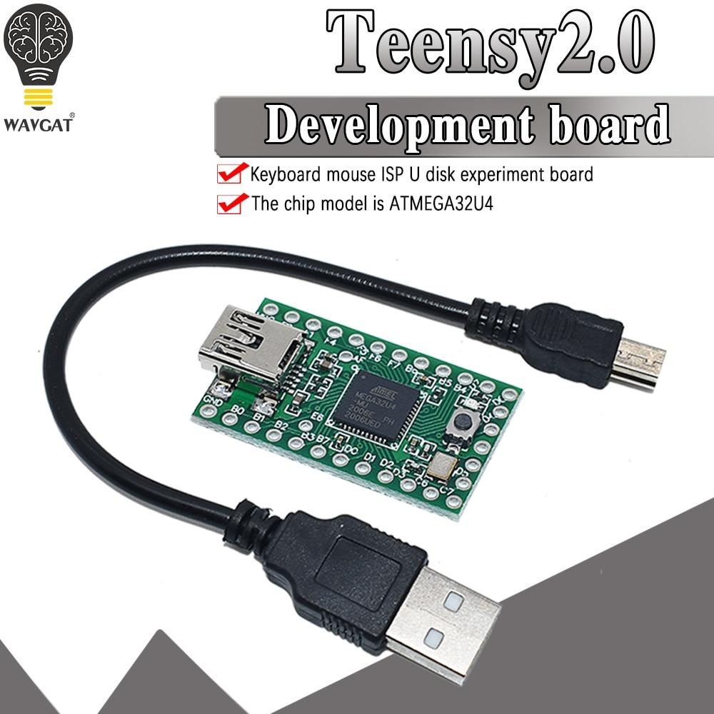 official Teensy 2.0 USB keyboard mouse teensy for Arduino AVR ISP experiment board U disk Mega32u4 NEW