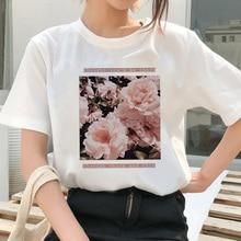 Vrouwen T-shirt Brief Afdrukken Harajuku Korte Mouw 2020 Zomer O-hals Tee Top Vrouwen T-shirts Oversize Shirts Vrouw Kleren T-shirt