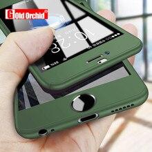 Cobertura completa 360 funda para iPhone 6 6x8 s 7 7 Plus 11 Pro Max PC protector funda para el iPhone 7 5 5S XS carcasa para Max XR con vidrio