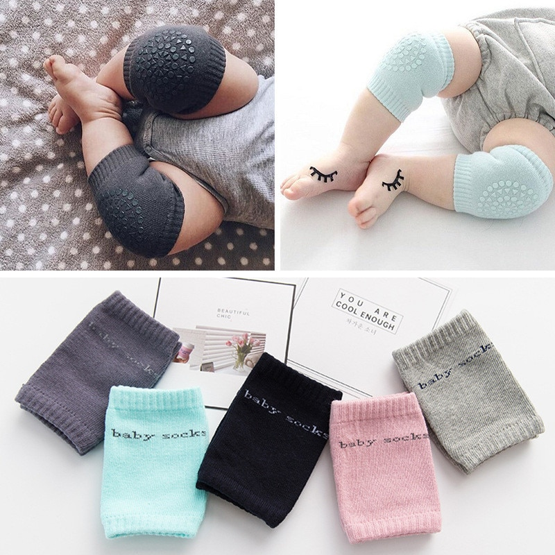 Baby Non-slip Knee Pad Kids Safety Crawling Elbow Cushion Infant Toddlers Baby Leg Warmer Kneecap Su