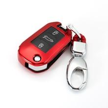 Couverture complète de voiture TPU souple pour Peugeot, accessoires pour Peugeot 2019, porte-clés coquille, 3008, 208, 308, 508, 408, 2008, 307, 4008,