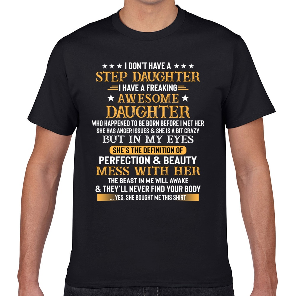 Tops Camiseta Hombre tengo una hija terca Vogue Vintage Geek algodón hombre Camiseta XXXL