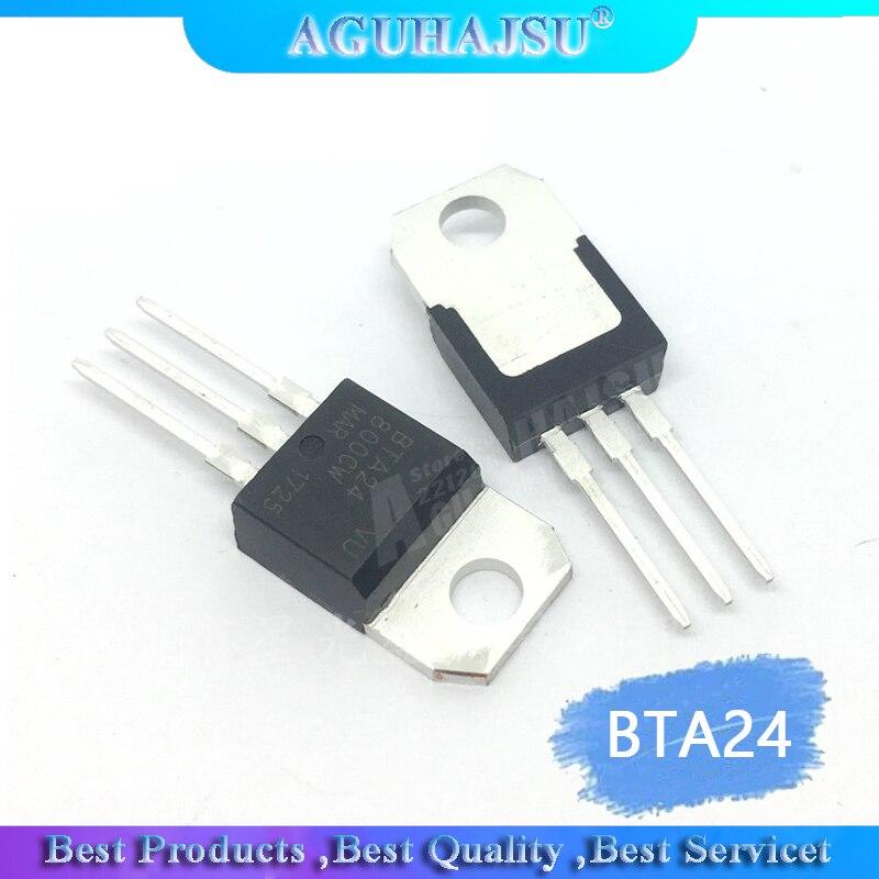 10PCS BTA24-800B PARA-220 BTA24-800 TO220 BTA24 24-800B 24A 800V triac tiristor