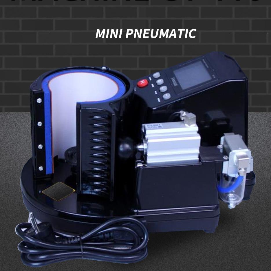 Пневматический автоматический термопресс для сублимационной печати яркого черного цвета