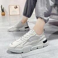 Ressort Haute semelle Sneakers Homme Chaussures de Sport pour Hommes Chaussures De Sport Hommes Chaussures de Course Homme Gris Blanc Tennis Panier Marche E-832