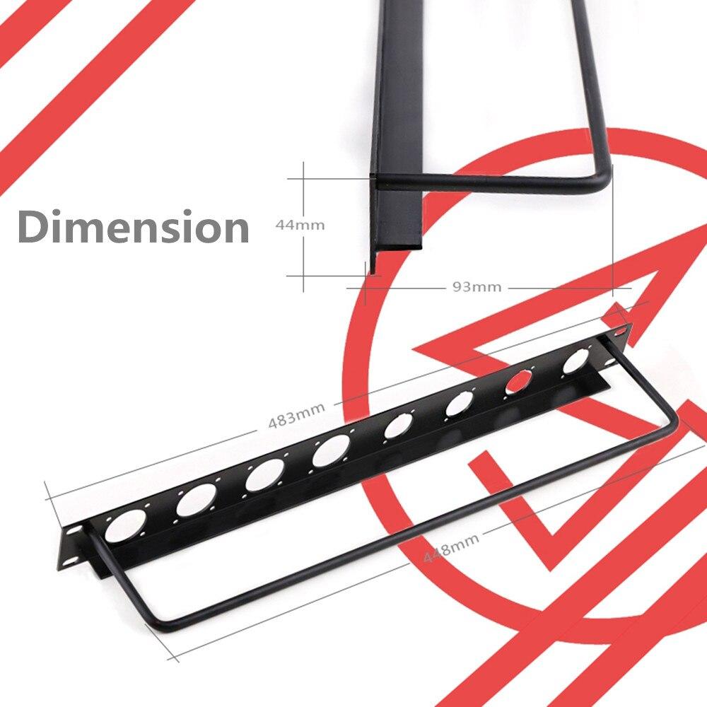 Rack Patch Panel 8 12 16 Way Channel 1U Flight Case Mount For XLR Connecctor Male Female SpeakOn Audio Cable Plug