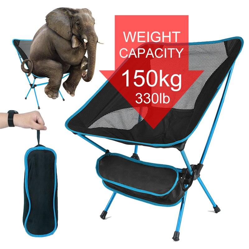 Стул складной портативный, Сверхлегкий стул для кемпинга, путешествий, пешего туризма, барбекю, рыбалки, пикника, стул для рыбалки складной