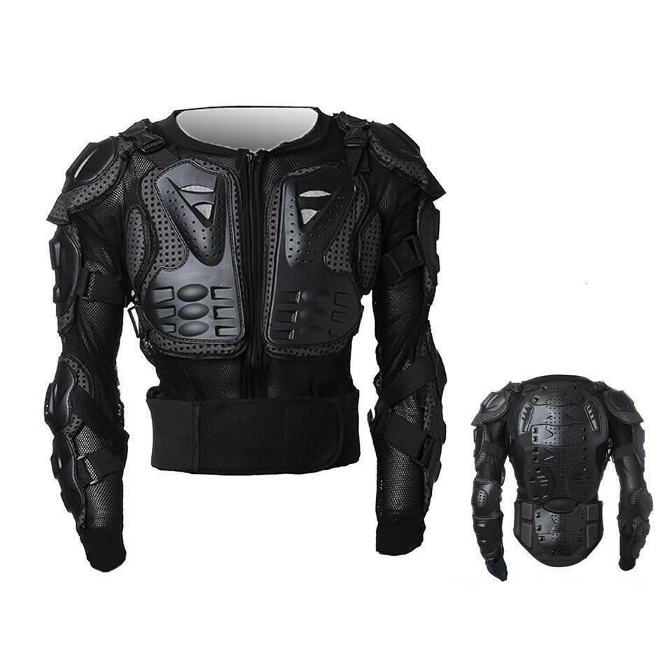 Peto integral moto motocross enduro chaqueta protección negro m l xl xxl xxxl