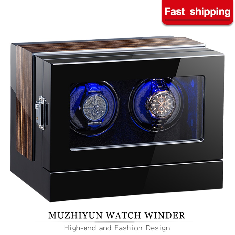 Automatic Wooden Watch Winder Box Accessories Display Mechanical Single Rotating Watch Uhrenbeweger For Auto Watches