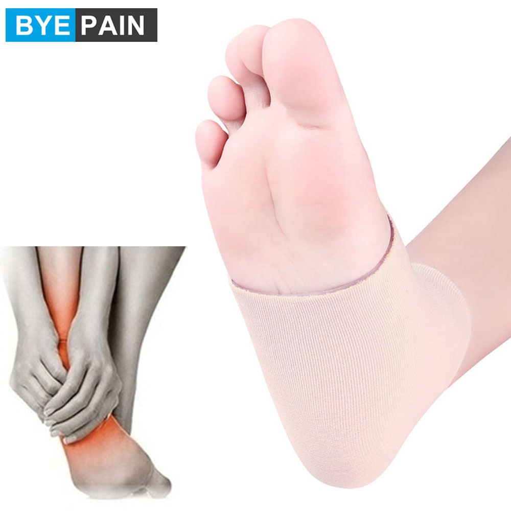 1Pair BYEPAIN Ankle Gel Sleeves Padded skate sock protection for ankles lace bite Figure skating, hockey, roller, Inline, riding