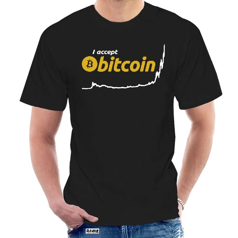 Männer T shirt ICH Akzeptieren Bitcoin BTC Baumwolle Kurzarm lustige t-shirt neuheit t-shirt frauen 6536Z