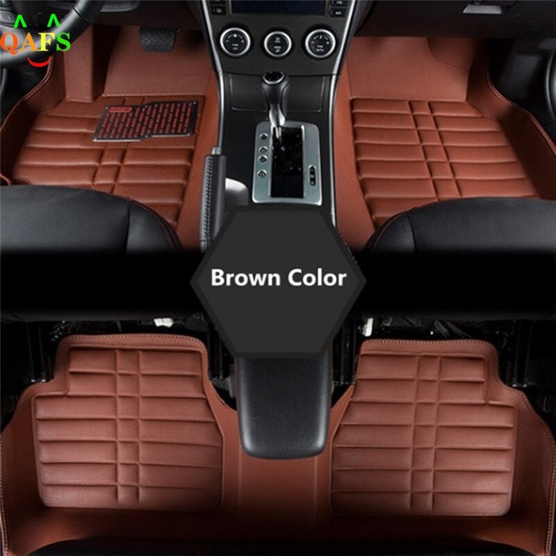 5pcs /lset Universal Car Auto Floor Mats Floorliner Front&rear Carpet All Weather Mat