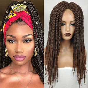 Wig braided synthetic hair head wig ponytails weaving natural afro hair hairpiece ponytail