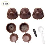 5 pièces filtre à café tasse réutilisable café Capsule filtres pour Nespresso, avec cuillère brosse Capsulas Dolche Gusto accessoires de cuisine