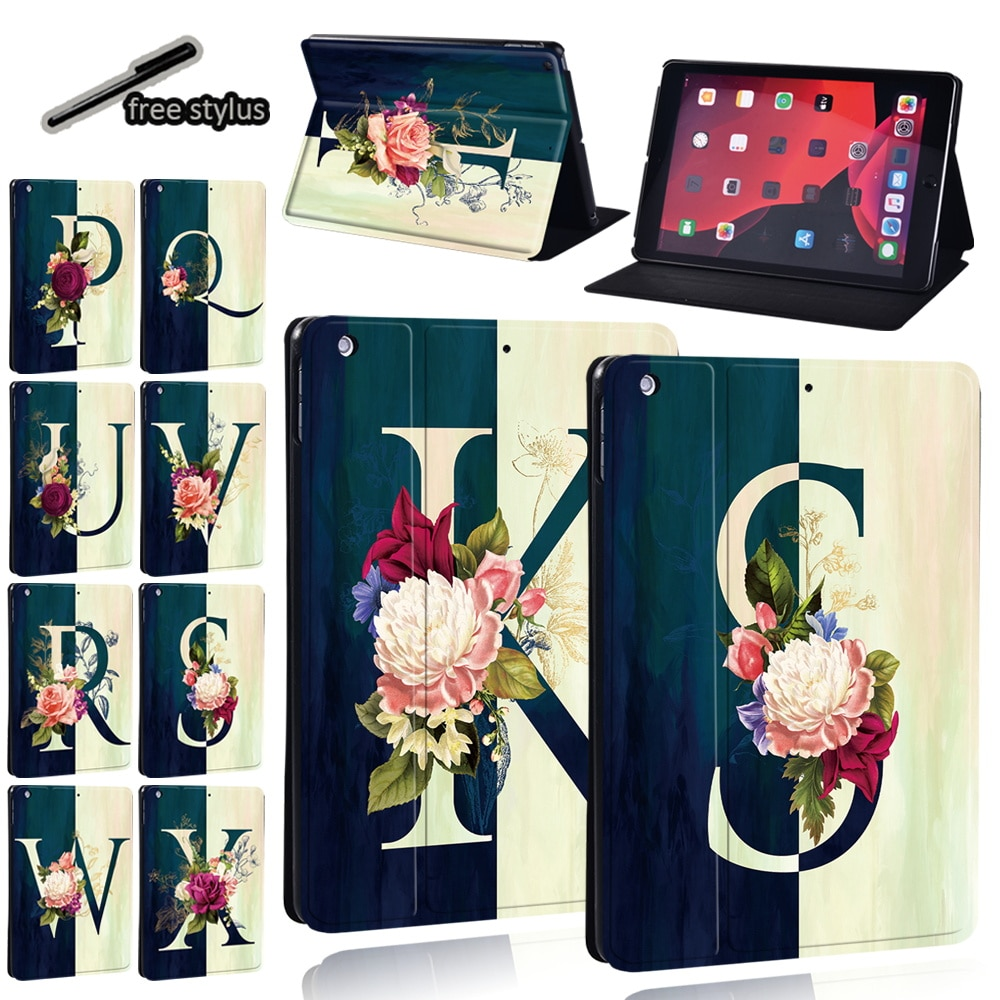 Tablet Case for Apple Ipad 8/IPad 5/6/7/IPad Air 1/2/IPad 2/3/4/ Ipad Mini 1/2/3/4/5 Drop Resistance Leather Cover Case + Stylus