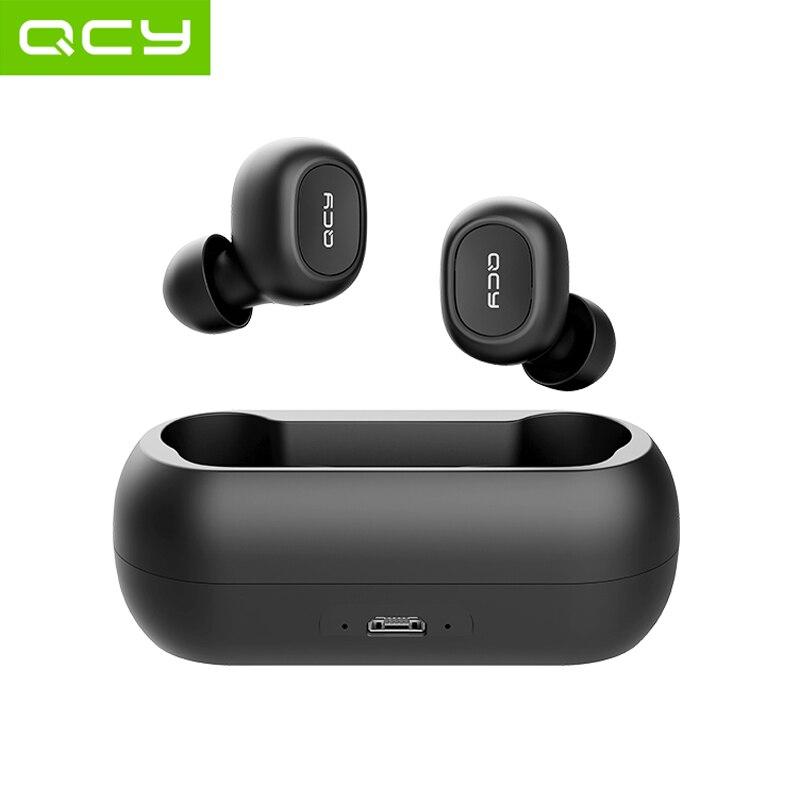 QCY qs1 TWS 5,0 auriculares Bluetooth 3D estéreo auriculares inalámbricos con micrófono dual